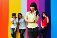 Free Beautiful Young Asian Teenage Girls Stock Images - 9788214