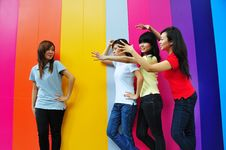 Free Beautiful Young Women Having Fun Royalty Free Stock Image - 9788536