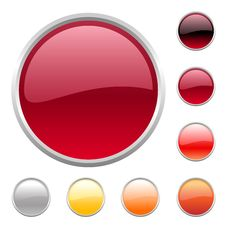Free Buttons Set Royalty Free Stock Image - 9789346