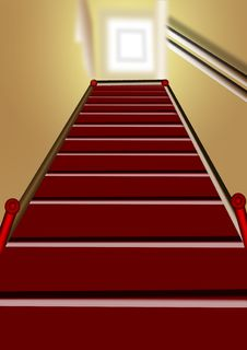 Free Wooden Staircase Royalty Free Stock Photo - 9789925