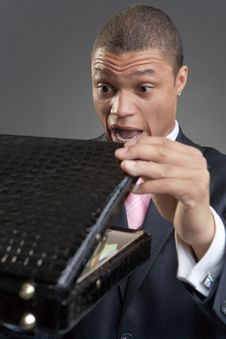 Free Businessman With A Briefcase Royalty Free Stock Photos - 9789968