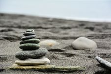 Free Beach Sand Stones Royalty Free Stock Image - 97838156