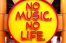 Free No Music No Life Stock Images - 97838254
