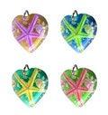 Free Starfish In Hearts Royalty Free Stock Photo - 9791645