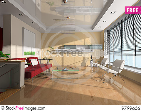 Free Interior Of The Room Royalty Free Stock Image - 9799656
