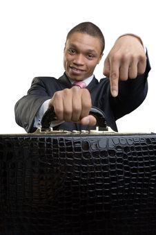 Free The Happy Businessman Offers Briefcase Stock Images - 9790004
