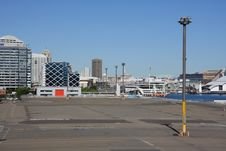 Looking Across Docks To Downtown Sydney Royalty Free Stock Photo