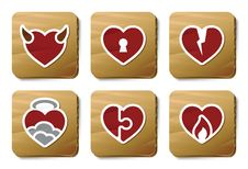 Free Hearts Icons | Cardboard Series Royalty Free Stock Image - 9790276