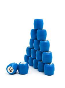 Free Blue Barrels Lotto, Gambling Stock Photo - 9790360