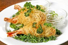Free Prawns In Noodles Stock Photography - 9790402