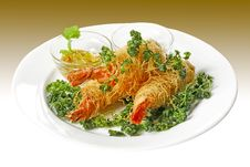 Free Prawns In Noodles Stock Images - 9790414