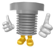 Mr Screw Mascot Character Stock Photo