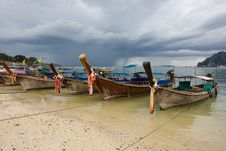 Free Longtail Boats In Thailand Royalty Free Stock Image - 9790716