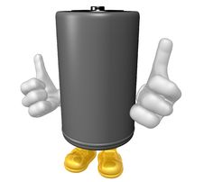 Mr Battery Mascot Stock Images