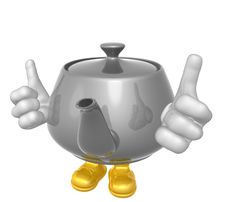Mr Teapot Mascot Character Royalty Free Stock Photo