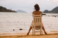 Free Woman By The Sea Royalty Free Stock Photos - 9791168