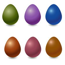 Free Easter Eggs Royalty Free Stock Photography - 9791497