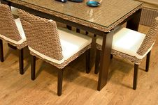 Free Ratten Table Royalty Free Stock Image - 9791596