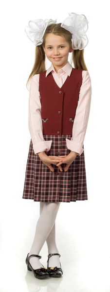 Free The Cherry Girl In A School Uniform Stock Image - 9791931