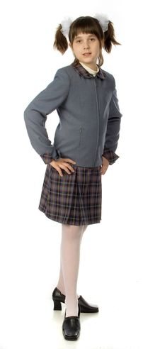Free The Cherry Girl In A School Uniform Stock Photography - 9791962