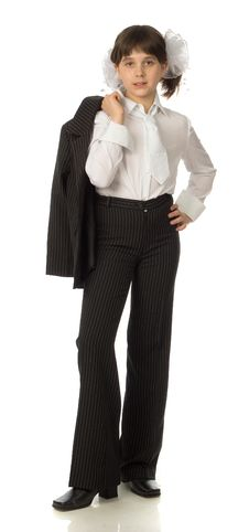 Free The Cherry Girl In A School Uniform Stock Photo - 9792050
