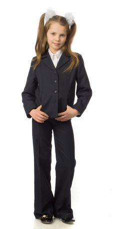 Free The Cherry Girl In A School Uniform Royalty Free Stock Photos - 9792148