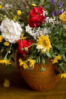 Flowers In Jug Stock Photos