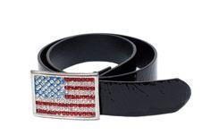 Free Black Leather Glossy Belt Royalty Free Stock Photos - 9793258