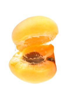 Free Apricots Isolated On White Stock Images - 9794274