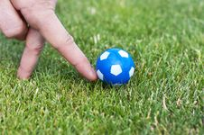Free Man Hand Playing Role Of Soccer Player Royalty Free Stock Photography - 9794307