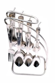 Spoons And Forks Kit Royalty Free Stock Photo