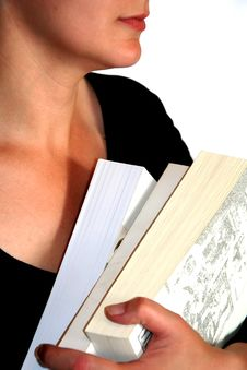 Girl Holdin A Books Royalty Free Stock Photography