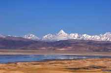 Free Lake And Snow Mountains In Tibet Stock Photo - 9795490