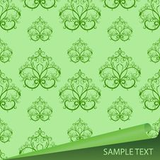 Free Sample Of A Fabric With Drawing Royalty Free Stock Photos - 9795578