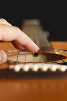Guitar Fingers Royalty Free Stock Image