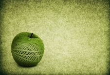 Green Apple Concept Vintage Texture Illustration Royalty Free Stock Image