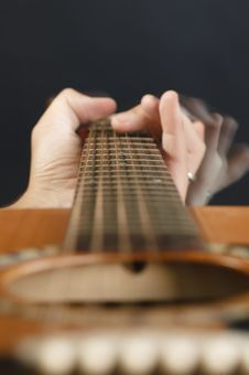 Free Guitar Fingers Royalty Free Stock Photo - 9795955