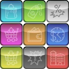 Free Vector Of Icons Made Of Pixel Dots Royalty Free Stock Photo - 9796155