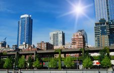 Free Seattle Downtown Royalty Free Stock Image - 9796486