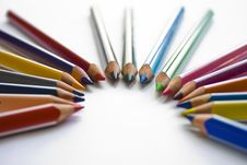Set Of Colored Pencils Stock Images