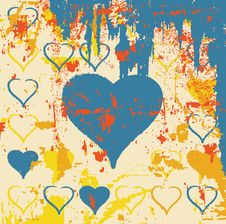 Free Abstract Grungy Heart Illustration Royalty Free Stock Images - 9796809