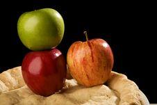 Free Apple Pie With Apples. Stock Photos - 9797283
