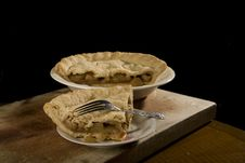 Free Slice Of Apple Pie With Fork. Royalty Free Stock Image - 9797326