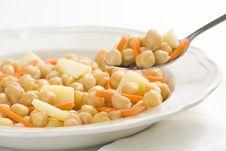 Free Chickpeas  Homemade Carrot And Potato Dish Stock Photos - 9797383