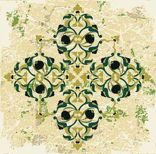Free Antique Ottoman Grungy Wallpaper Raster Design Stock Image - 9797411