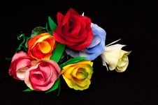 Free Artificial Handmade Roses Royalty Free Stock Photo - 9797615