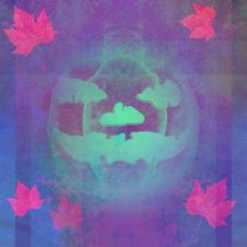 Grunge  Psychedelic Halloween Tile Royalty Free Stock Image