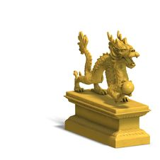 Free Golden Chinese Dragon Statue Royalty Free Stock Image - 9798856