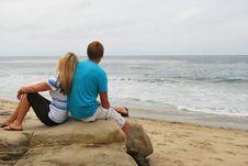 Ocean Gazing Royalty Free Stock Photography