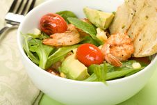 Free Grilled Shrimp Salad Royalty Free Stock Image - 9799086